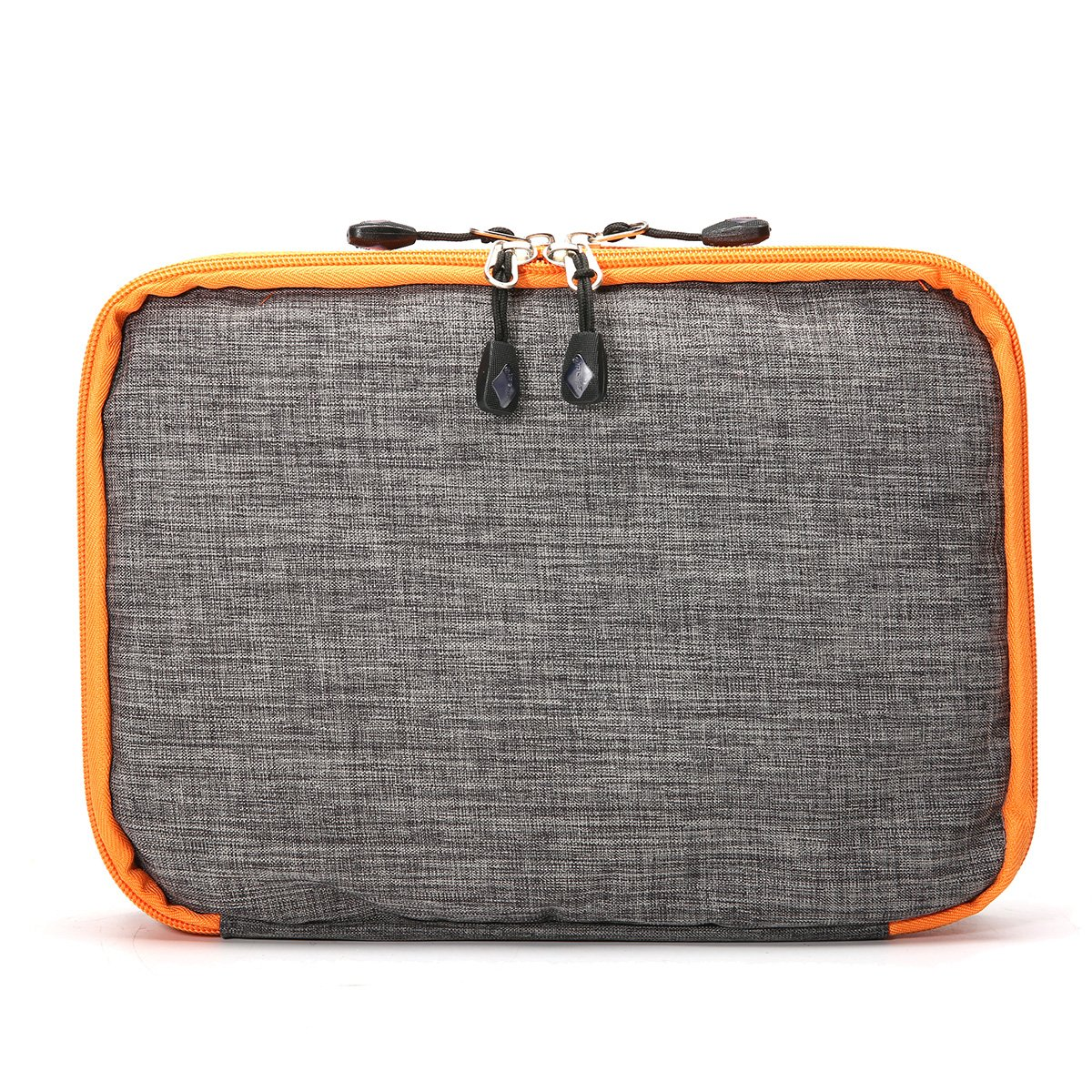Caveen Organizer Bag Waterproof Electronics Travel Organizer Electronics Accessories Cases For Various USB, Phone, Charge and Cable Universal Double Layer Travel Bag, Orange