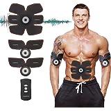 Muscle Toner, HOMPO Abdominal Toning Belt, Abs Trainer Wireless Body Fitness Training Gear for Abdomen/Arm/Leg Workout Home/Office Men&Women