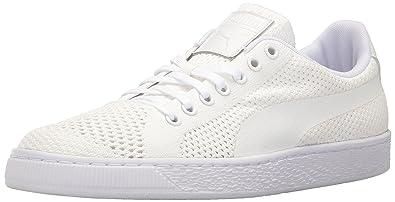4f1c2432be472f PUMA Basket Classic Evoknit Fashion Sneaker White Whit