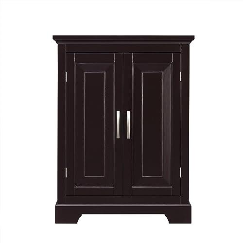 Elegant Home Fashions Alfa Double Door Floor Cabinet in Dark Espresso