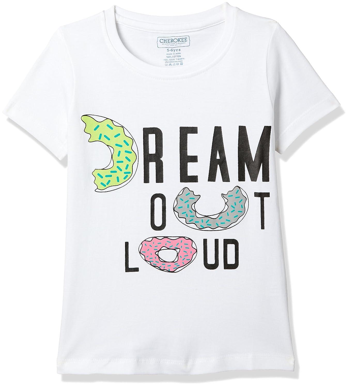 04506913 Cherokee Girls' Plain Regular Fit T-Shirt: Amazon.in: Clothing & Accessories