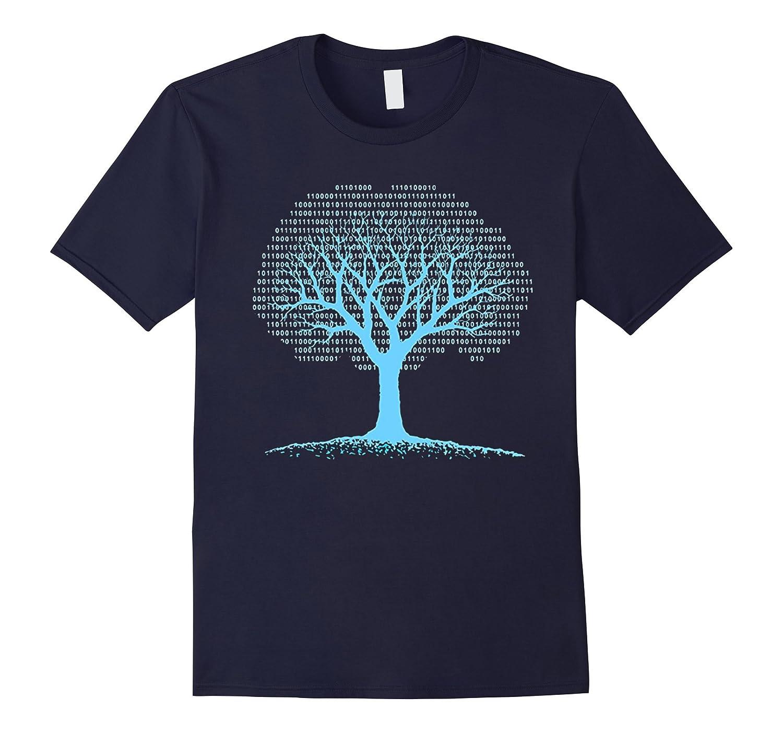 Binary Tree Computer Coding T-Shirt-Vaci