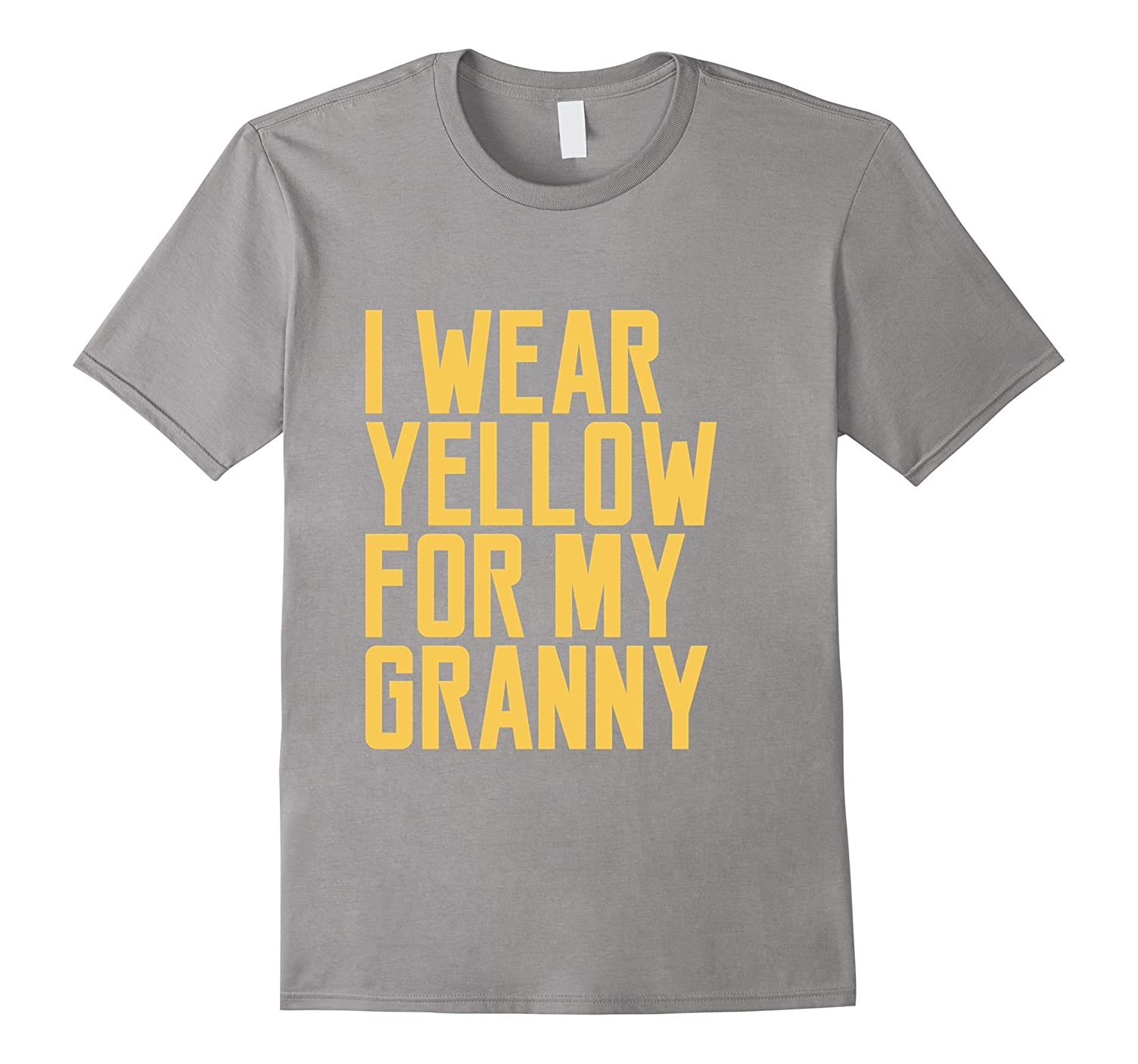 I Wear Yellow For My Granny T-Shirt Ribbon Awareness Mother-Art