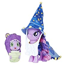 My Little Pony Twilight Sparkle and Spike the Dragon Collector's Series Figures – Star Swirl the Bearded Outfit and Spell Book Package for Display