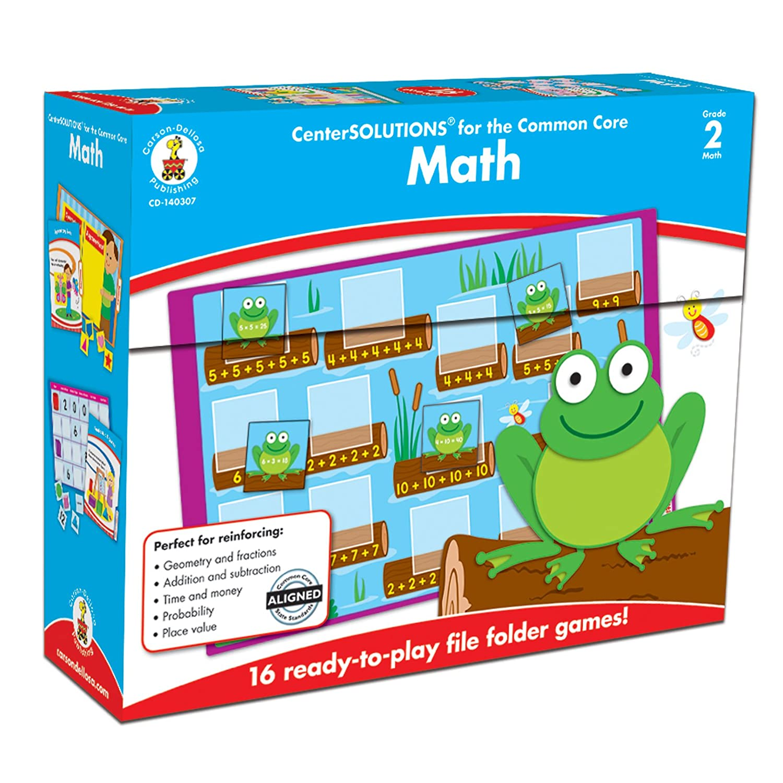Carson-Dellosa Publishing 16 Games Carson-Dellosa CD-140307 Math File Folder Game 19 Sheets of Cards Grade 2 Pack of 35