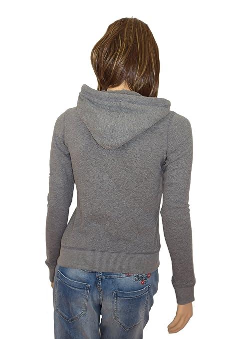 Hollister - Chaqueta deportiva - para mujer gris XS: Amazon ...