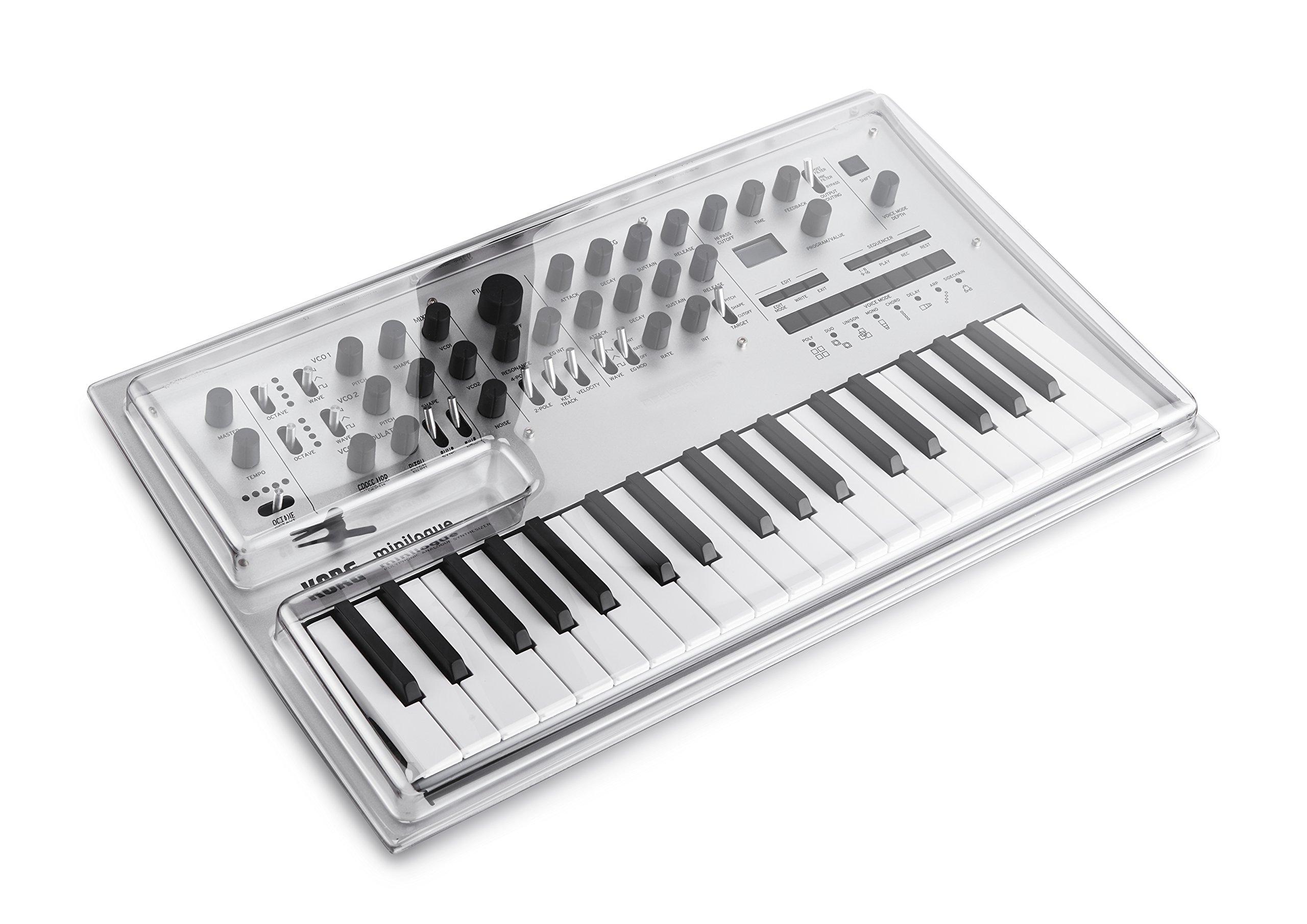 Decksaver DS-PC-MINILOGUE Korg Minilogue Synthesizer Cover by Decksaver