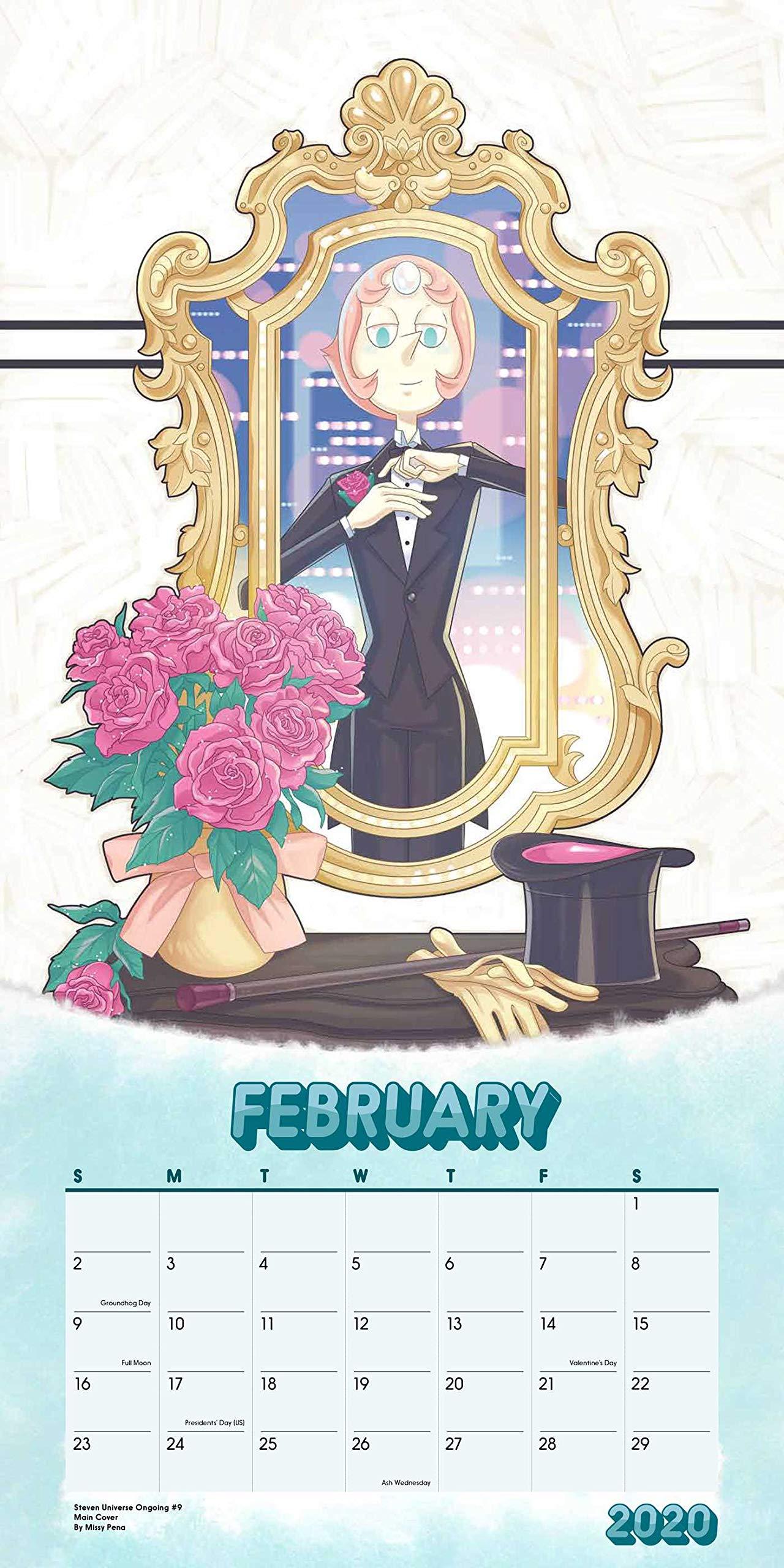 Presidents Day 2020 Calendar.Steven Universe 2020 Wall Calendar Cartoon Network 0676728036357