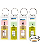 Cruise Tags - Narrow Cruise Ship Luggage Etag Holder with Zip Seal & Steel Loops for Royal Caribbean and Celebrity Cruises