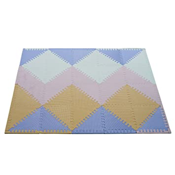 jigsaw mat eva color puzzle foam play soft itm kids plain baby mats tiles protective crawling floor lot