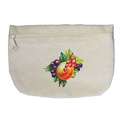 Canvas Pouch Zipper Makeup Bag Fruit Fruits Style 1 By Style In Print