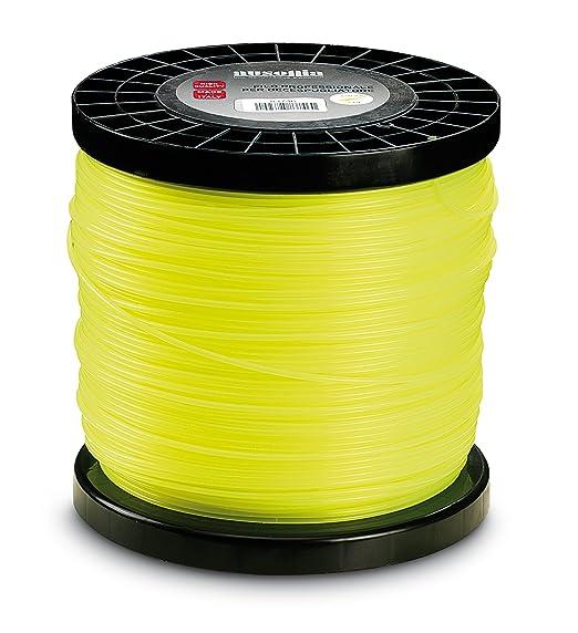 Ausonia - 83748 Bobina de hilo para desbrozadora hexagonal amarillo 3,0 mm, 2 Kg