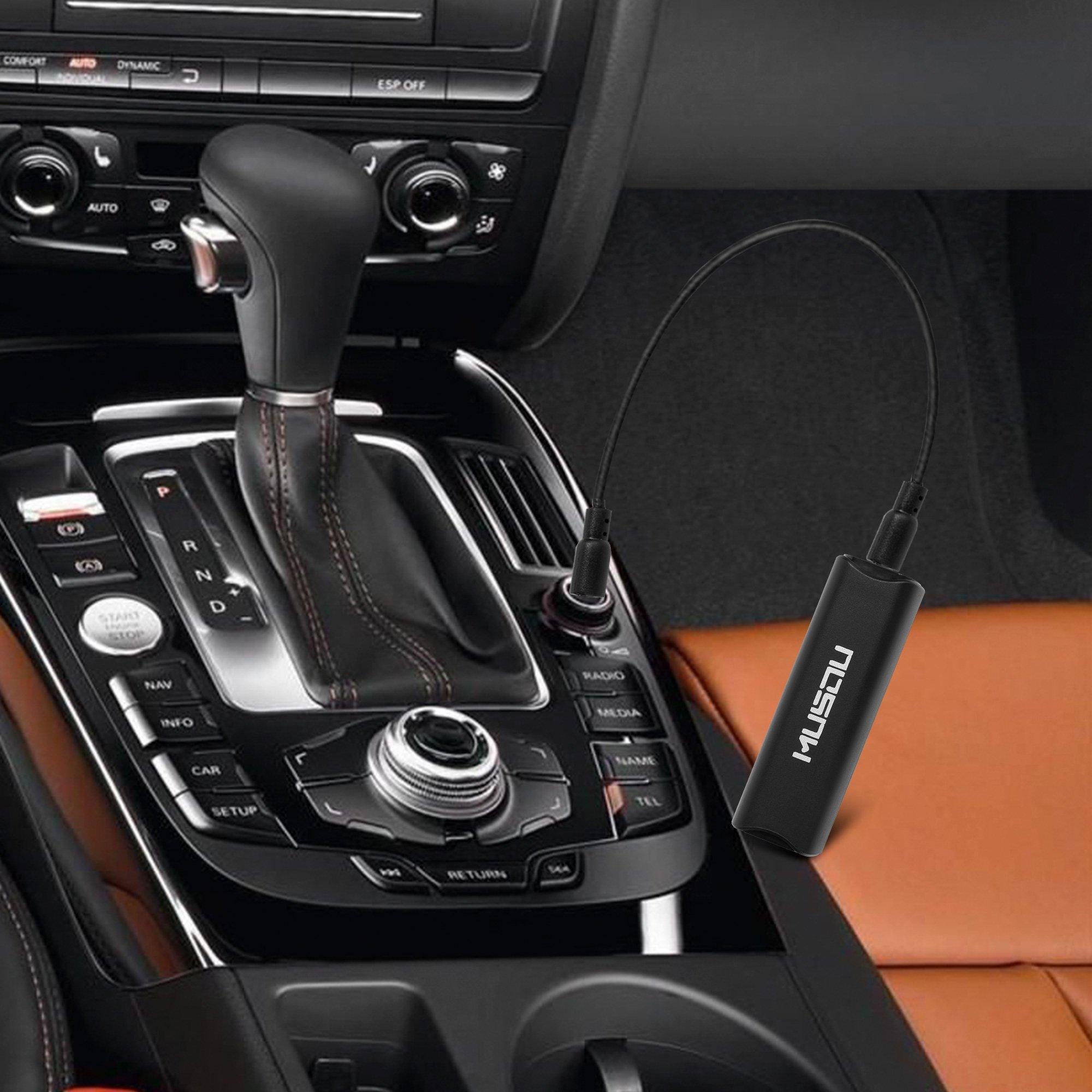 Musou Ground Loop Noise Isolator, Entstörfilter Auto Radio Entstörer Noise Filter für Bluetooth Car Audio, Heim, PC-Stereo-System mit 3,5-mm-Audiokabel
