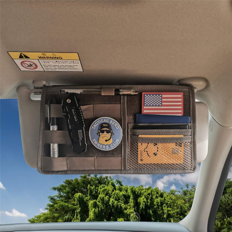 Tactical Molle Car Sun Visor Organizer Bag Truck Vehicle Panel Holder Pouch USA