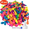 Hibery 500 Pack Water Balloons with Refill Kits, Latex Water Bomb Balloons Fight Games - Summer Splash Fun for Kids & Adults