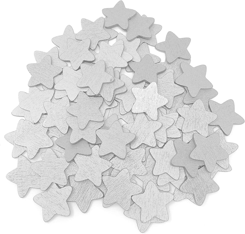 18 mm holz Holz Stern Silber silber 18 mm Sammelalbum Shabby Chic Handwerk Sterne h/ölzern klassisch