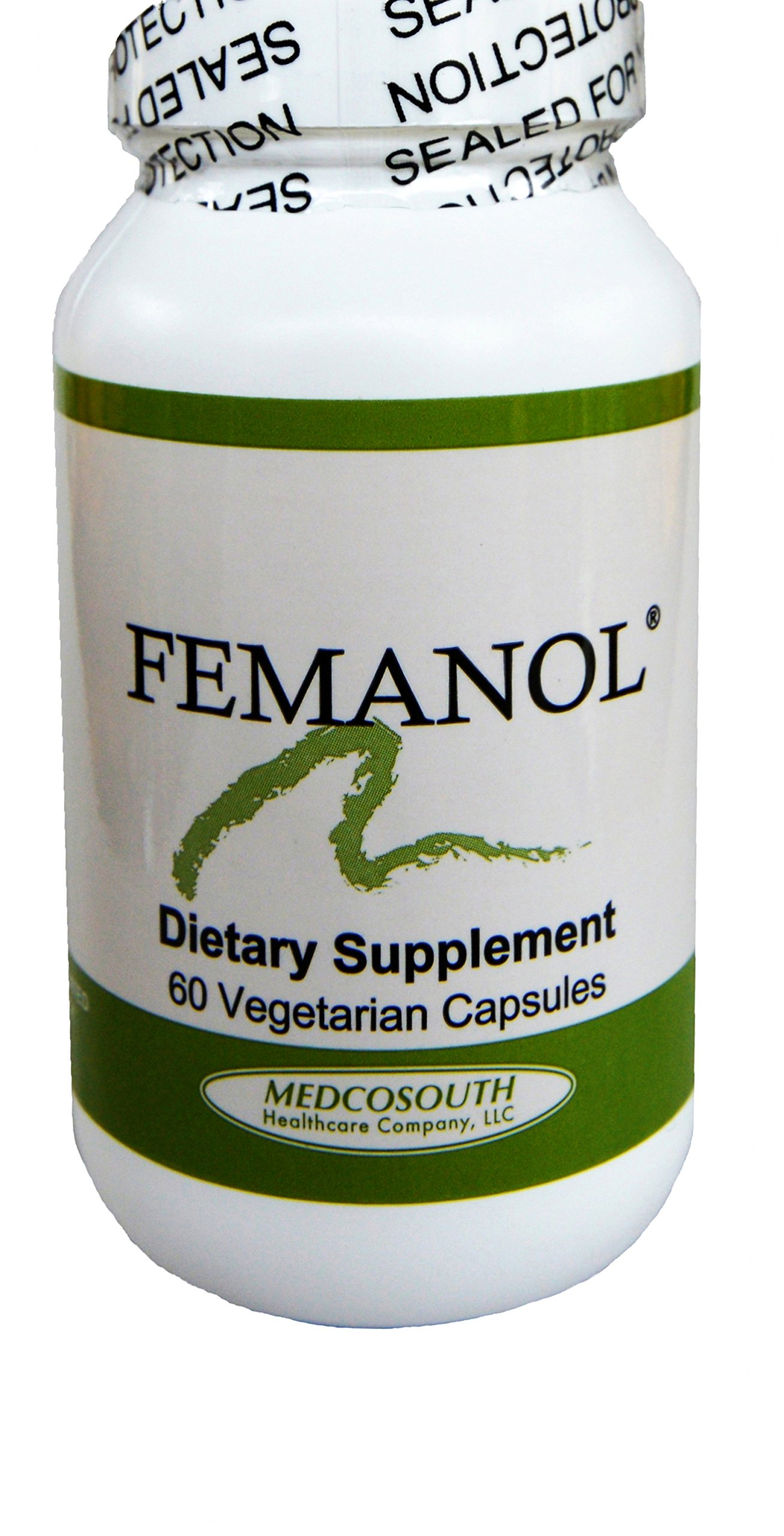 Femanol (1) Bottle 60/count Supports Normal Healthy Feminine and Vaginal Odor by MedcoSouth