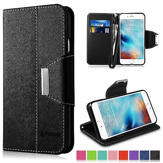 31 opinioni per iPhone 6 Plus Custodia- Vakoo iPhone 6S Plus Cover flip a portafoglio in pelle
