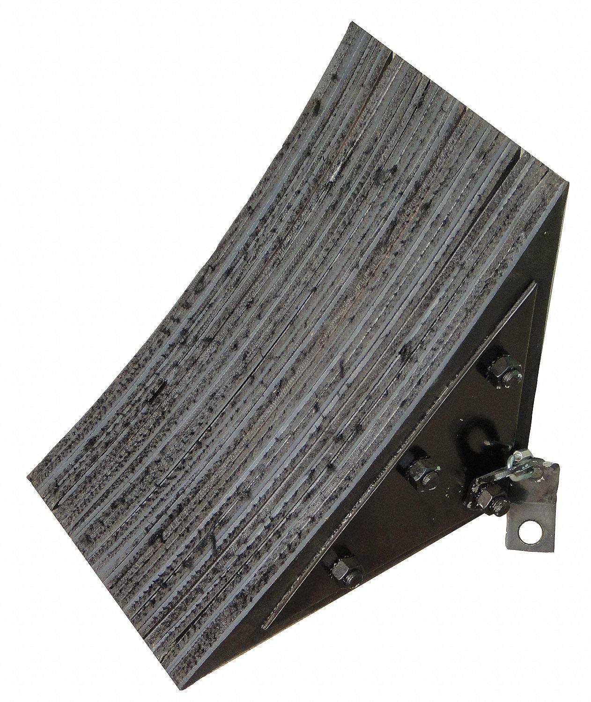 Wheel Chock, General Purpose, Style: Single, Laminated Rubber