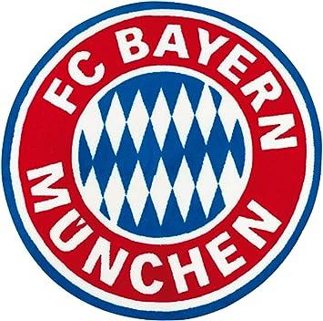 Teppiche München fc bayern münchen fan teppich 100cm rund logo bundesliga fussball