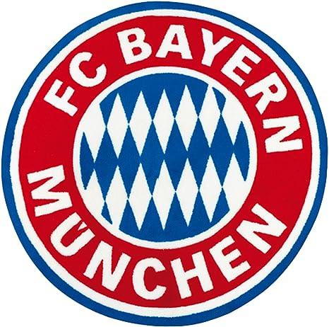 Fc Bayern Munchen Fan Teppich 100cm Rund Logo Bundesliga Fussball Kinderland24