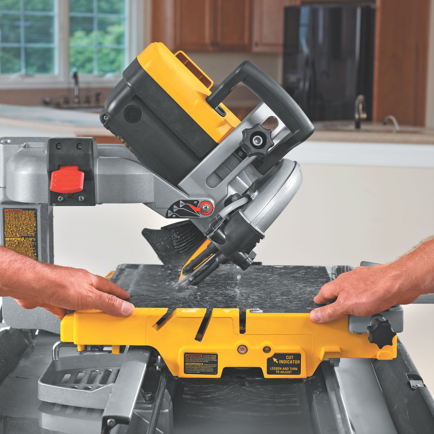 DEWALT DS HeavyDuty Inch Wet Tile Saw With Stand Power - Dewalt wet saw pump