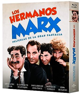 Pack: Hermanos Marx (5 películas BD) [Blu-ray]: Amazon.es: Groucho Marx, Harpo Marx, Chico Marx, Zeppo Marx, Leo McCarey, Groucho Marx, Harpo Marx, Paramount Pictures: Cine y Series TV