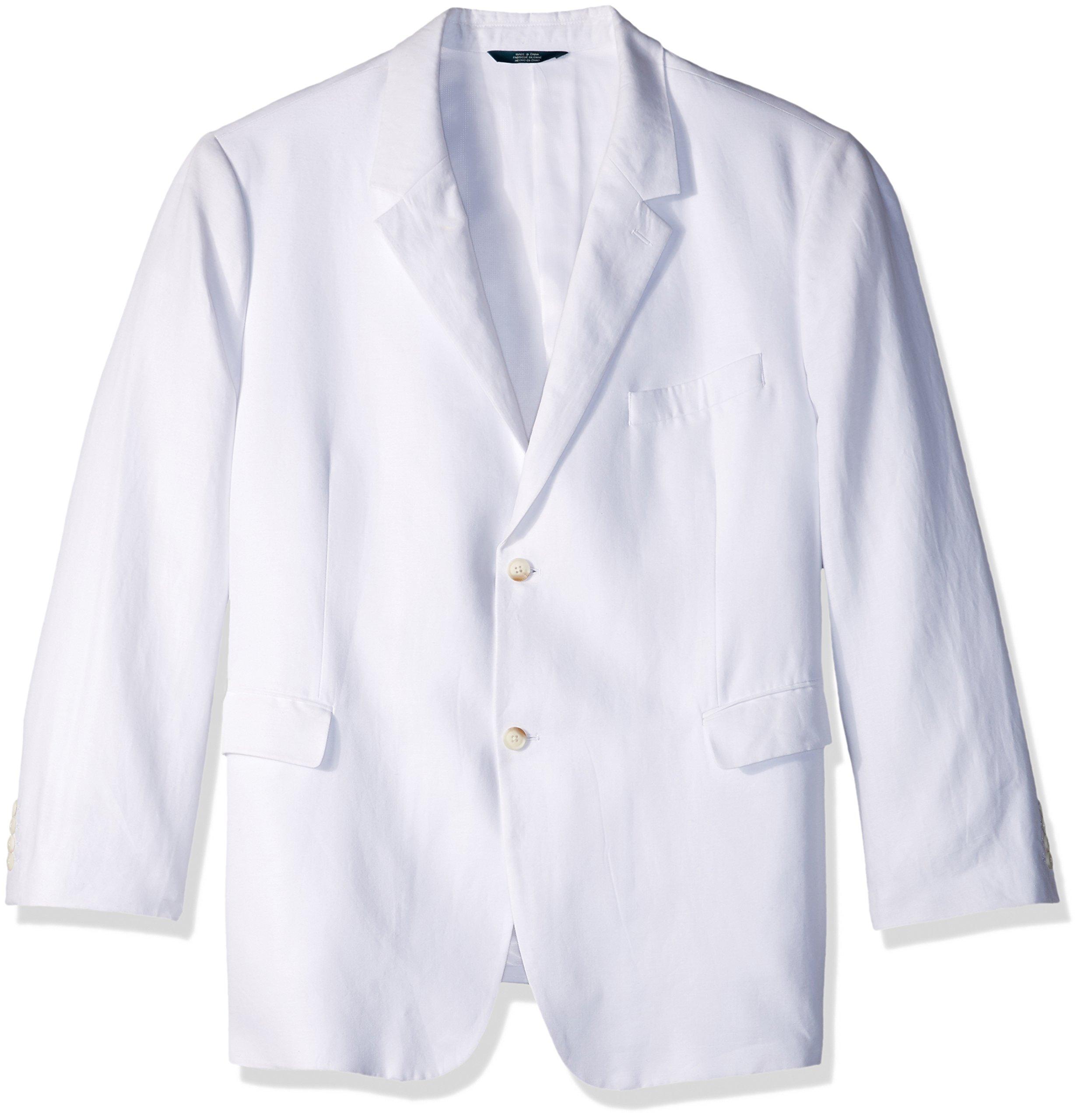 Perry Ellis Men's Tall Linen Suit Jacket, Bright White, 54 Big