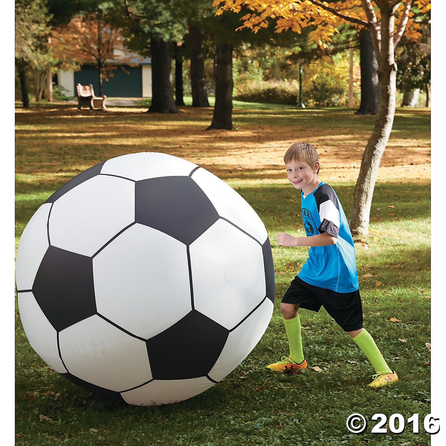 Giant Inflatable Soccer Ball by MindWare
