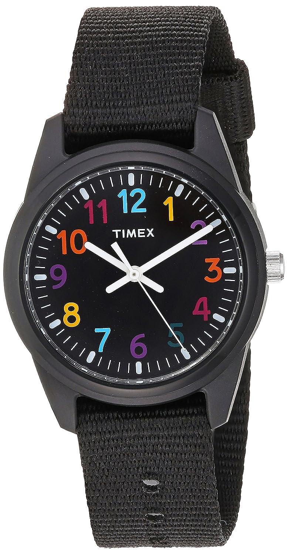 fb018390051 Amazon.com  Timex Girls TW7C10400 Time Machines Black Nylon Strap Watch   Timex  Watches