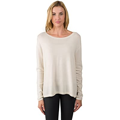 J CASHMERE By JENNIE LIU Women's 100% Cashmere Dolman Sleeve Pullover High Low Sweater at Women's Clothing store