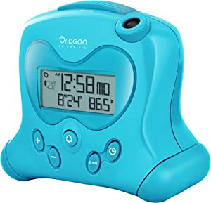 Oregon Scientific RM313PNFA New FLIP projection feature Self-Setting Projection Flip Clock, Hip and Cool Blue