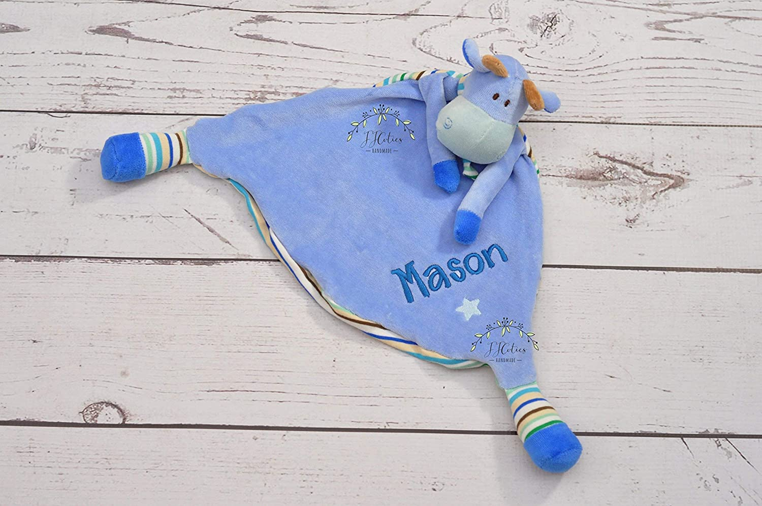 Personalized Lovey Minky Blanket Sheep-Stuffed animal-Mouse Personalized security blanket-Giraffe lovey security blanket-Cubbies Blanket