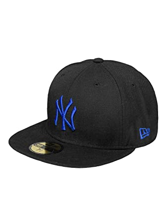 44d717b9503 New Era Men Caps Fitted Cap MLB Seasonal Basic NY Yankees 59Fifty Black 7-