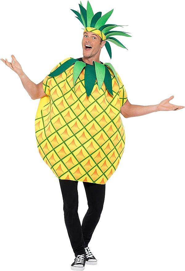 Smiffys Pineapple Costume Disfraz de piña, color amarillo, talla ...