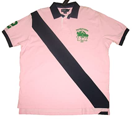 b1c65c87a5a Image Unavailable. Image not available for. Color: RALPH LAUREN Polo Men's  Navy Pink Rugby Shirt XL
