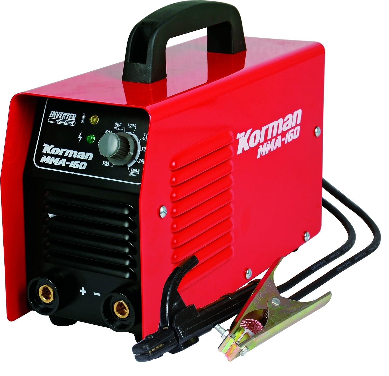 Korman 237216 Aparato de Soldador inverter 160Ah 160 W, 230 V, Rojo: Amazon.es: Bricolaje y herramientas