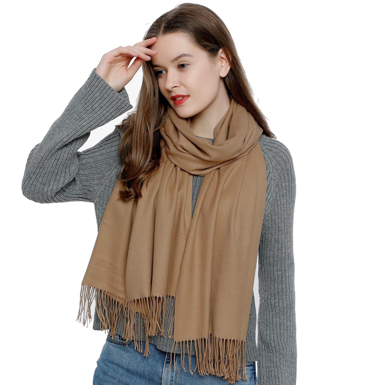 b8df6a7aec9 Grande écharpe d hiver femme 185 x 65 cm uni doux et chaud SCH175 ...