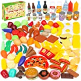 Shimfun Play Food Set, 143 Piece Play Food for Kids Kitchen - Toy Food Assortment - Pretend Food for Toddler - Food Toys…