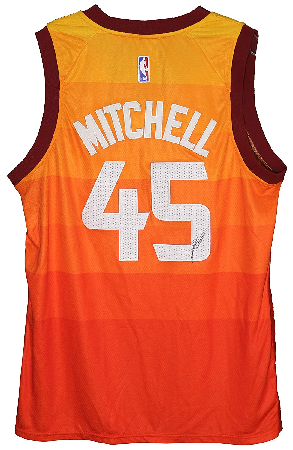 0ee478889 Donovan Mitchell Utah Jazz Signed Autographed City Edition  45 Jersey at  Amazon s Sports Collectibles Store