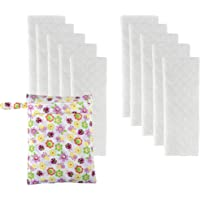 Big Elephant Baby 10 Pack Prefolds Resuable Cloth Nappies with Wet Bag NB01