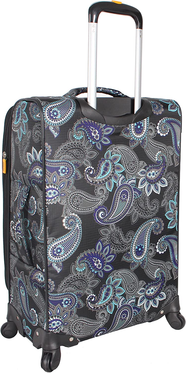 Expandable 20 Inch Suitcase Durable Small Ultra Lightweight Bag with 4-Rolling Spinner Wheels Lucas Designer Luggage Carry On Collection Diva
