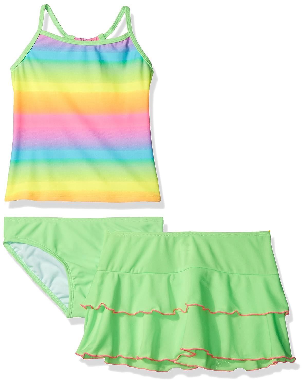 Freestyle Girls' Big Ombre Skirt Swim Set 946
