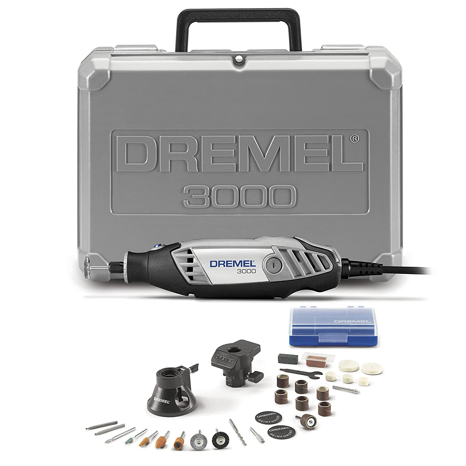 Dremel 3000-2 28 Variable Speed Rotary Tool Kit- 2 Attachments 28 Accessories- Grinder, Sander, Polisher, Router, and Engraver- Perfect for Routing, Metal Cutting, Wood Carving, and Polishing