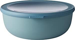 Rosti Mepal Cirqula Multi Food Storage and Serving Bowl with Lid, Low 2.3 Quart, Nordic Green