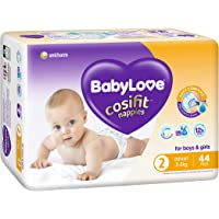 BabyLove Cosifit Nappies, Size 2 (3-8kg), 88 Nappies (2x 44 pack)