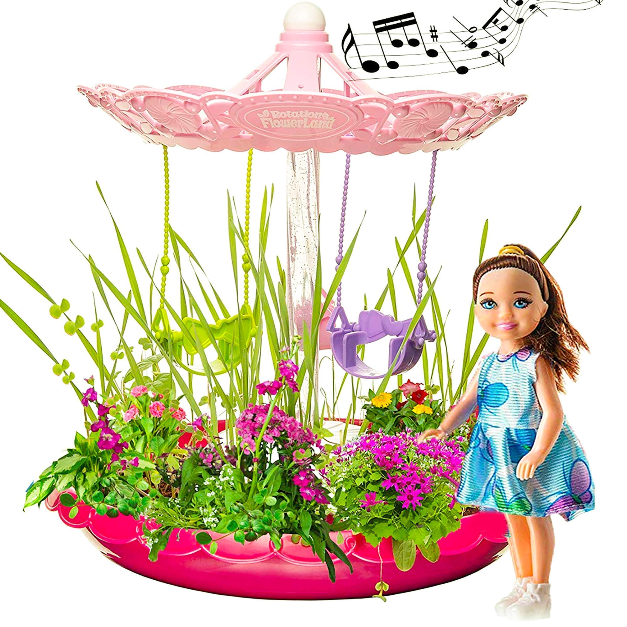 Fairy Garden Craft Kit Advanced Play - Kids Garden Set for Boys and Girls - Grow Your Very Own Magic Flowers and Plants Indoor - Best Creativity Gardening Gift for Kids 3 - 10 Years Old (Pink)