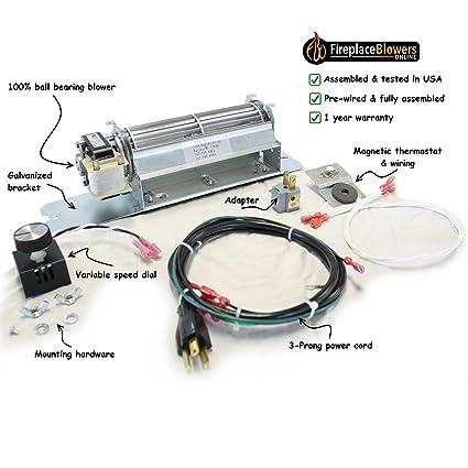 kit blower not insert working motors fan canada fireplace