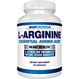 Premium L Arginine - 1340mg Nitric Oxide Booster with L-Citrulline & Essential Amino Acids for Heart and Muscle Gain - Nitric