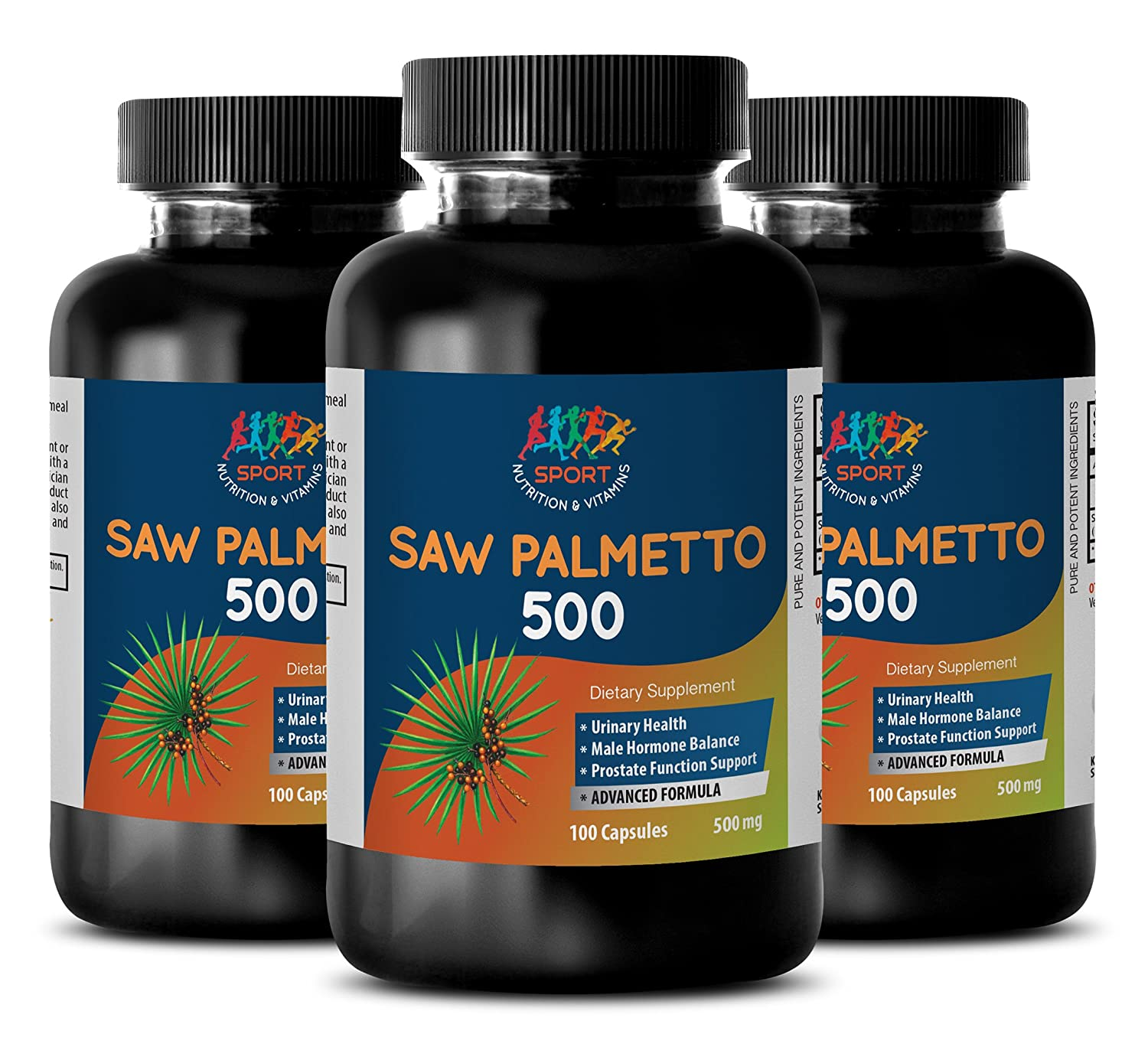 Amazon.com  men prostate vitamin - SAW PALMETTO 500MG - saw palmetto best  seller - 3 Bottles 300 Capsules  Health   Personal Care c3873dcc6778